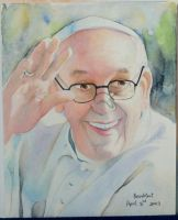 Smiling Pope Francis by Narzissus