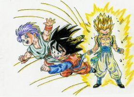 Goten and Trunks by Dtracon
