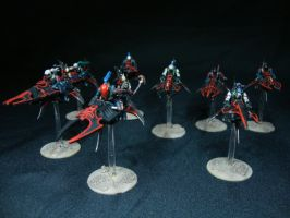 Dark Eldar - Reaver Jetbikes by Quiet-Lamp