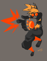 Daily Draw 9- Sis pew pew pew by guezadilla