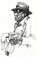 John Lee Hooker by LevonHackensaw