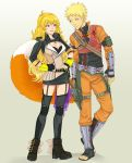 Naruto and Yang Xiao Long by LinART