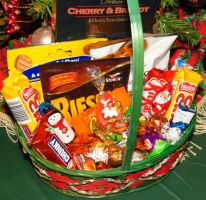 Holiday Chocolate Gift Basket by Kitteh-Pawz