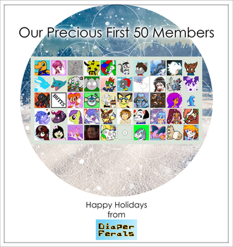 Our First 50 Members (Happy Holidays 2016) by redfoxj
