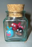 Locoroco in the bottle by me by yuna-yume