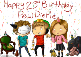 Pewdiepie's Birthday by Fireaux