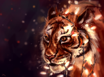 Tiger with a garland by AlaxendrA