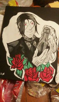 black butler painting  by Batterypower14
