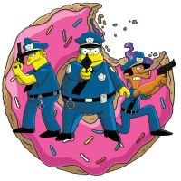 Simpsons Cops by fillmarc