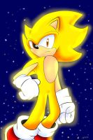 Super Sonic The Hedgehog by sonicnumberonefan165