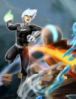 Avatar Aang vs Danny Phantom (redux) by slifertheskydragon