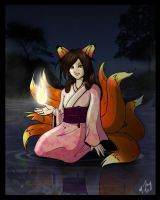 Fiery Kitsune of the Lake by shadowsmyst