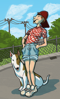 8. bull terrier lady by dobie