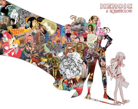 Womanthology: Heroic Cover by ChildOfDumas