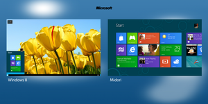 Windows 8 Vs Midori by RsrMusic