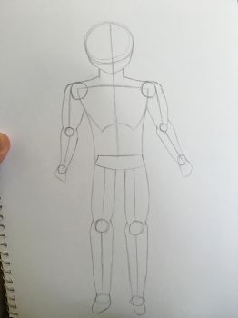 Trying to draw a male by Firestorm999