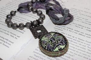 Zentangle Dragonfly Necklace by WingsNScales