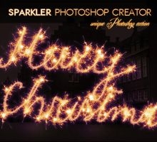 Sparklers Fireworks Writing Photoshop Action by PsdDude