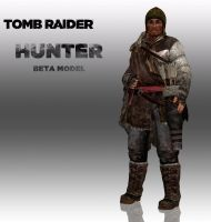 TOMB RAIDER: HUNTER (UNRELASED BETA MODEL) by doppelstuff