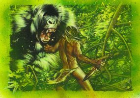 Tarzan Battles The Ape by JeffLafferty