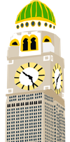 1930's Clock Tower by OceanRailroader