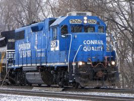 NS OLS GP38-2 still in CR Blue 2-21-08 by the-railblazer