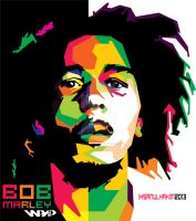 BOB MARLEY in WPAP by ihsanulhakim