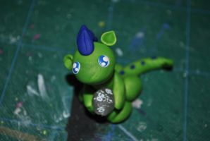 Green and Blue Dice Dragon by SkyeDragons