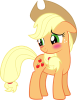 Blushing Applejack by Silentmatten
