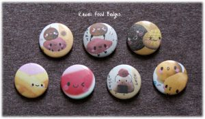 Kawaii Food Badges by Keito-San