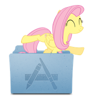 Custom Fluttershy Applications icon mac by rubiks-cube040