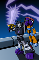 Spotlight Stunticons Cover B by KrisSmithDW