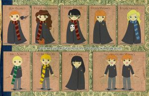Harry Potter Full Set by anekdamian
