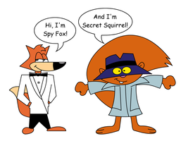 Spy Fox meets Secret Squirrel by dev-catscratch