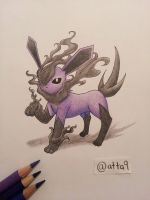 Ghost type Eeveelution - Obliveon by atta9