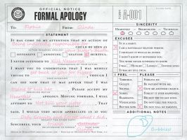Glinda Formal Apology by monkeysrool75