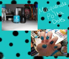 Masquerade Polka Dot Nails by BlueEyesNeko
