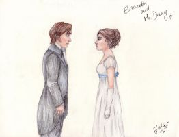 Lizzy and Mr Darcy by tonksgiuly
