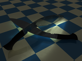 Kukri - Caustics MR Render by Lasty77