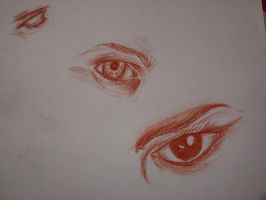 drawing eyes by B-LX
