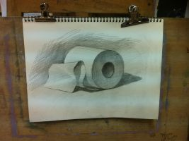 Toilet Paper Sketch by TheBareSheet