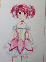 Madoka Water Colour by Lemonsquasch