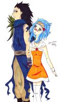 Gajeel x Levy by SasaLovesManga