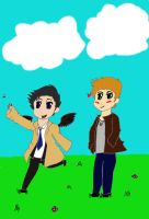 Castiel's Bumble Bee (Colored) by ImNotTwistedImSpiral