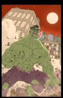Incredible Hulk colored by marcusmuller
