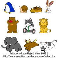 Animal Cliparts by ryuumajin