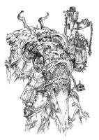 Dark Visions Pencils WH 40K by KlausScherwinski