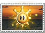 Shine Sprite at the Sunset Stamp by DarkraDx