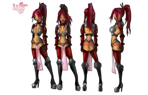 Rebels End_Lust turn arounds by AxiosHeart