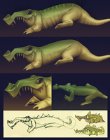 Zbrush Crocodillage by lemurali